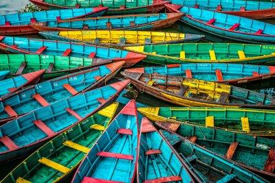 Плакат Красочные лодки