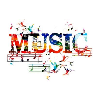 Плакат Красочный музыкальный фон