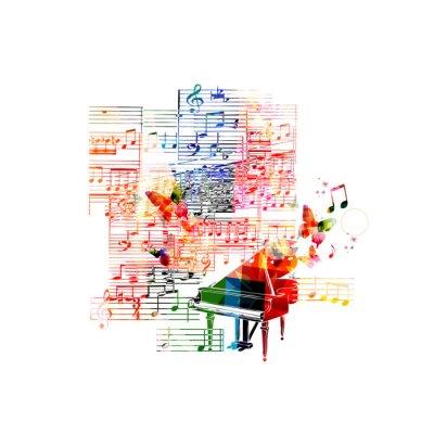 Плакат Красочный дизайн фортепиано