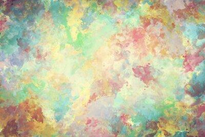 Плакат Красочные акварель краска на холсте. Супер высокое разрешение и качество фона