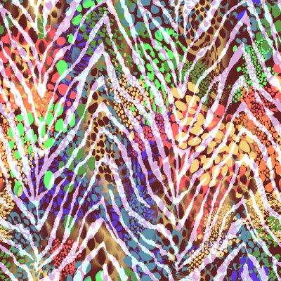 Плакат красочные зебры текстуры на пятна ~ бесшовного фона