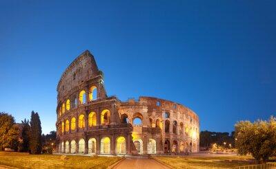 Плакат Колизей в ночное .Rome - Италия
