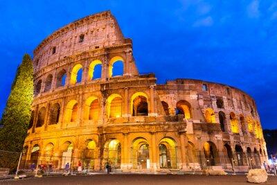 Плакат Колизей сумерки, Рим, Италия