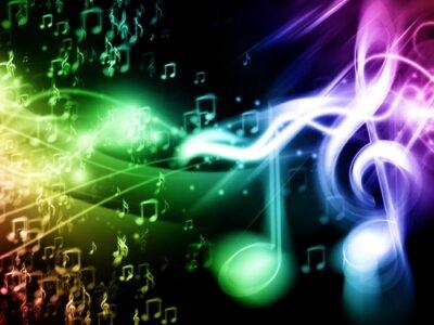 Плакат Colour Music Background
