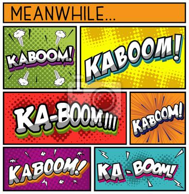 Плакат Comic Book Collection-KABOOM