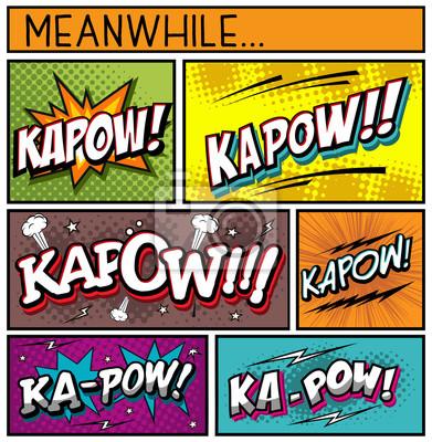 Плакат Comic Book Collection-Kapow