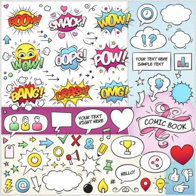 Плакат Комикс элементы вектора обновления