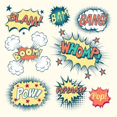 Плакат Comic Book Звуковые эффекты