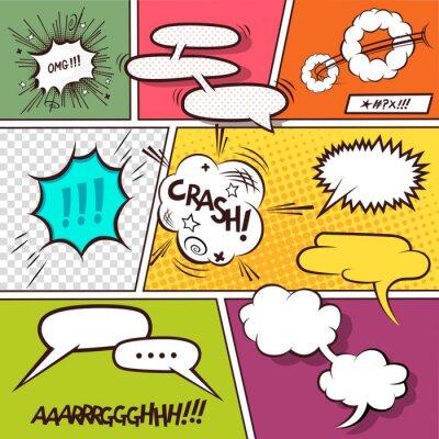 Плакат Комикс речи пузыри