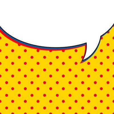 Плакат Комикс разговоры пузырь на желтом фоне