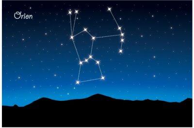 Плакат Созвездие Орион
