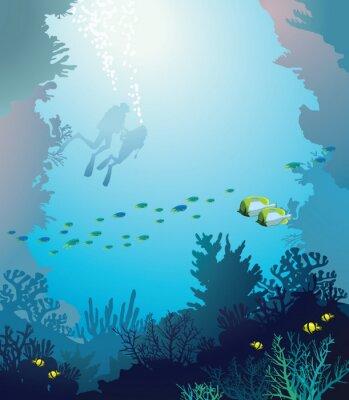 Плакат Под водой.