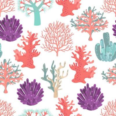 Плакат Corals seamless pattern
