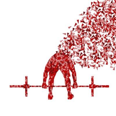 Плакат Crossfit человек атлетика фон вектор концепция