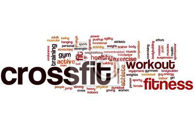 Плакат Crossfit облако слово