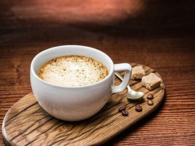 Плакат Чашка кофе со взбитыми сливками.