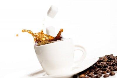 Плакат Чашка кофе всплеск