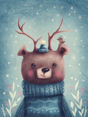 Плакат Cute brown bear