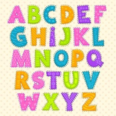 Плакат Cute funny childish alphabet