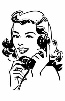 Плакат Cute Gal On The Phone