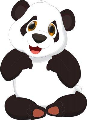 Плакат милые панды мультфильма