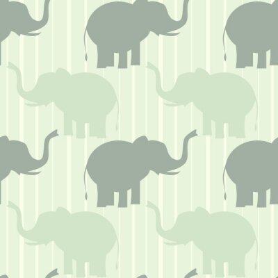 Плакат милый пастельного слон бесшовные модели вектор фона иллюстрации