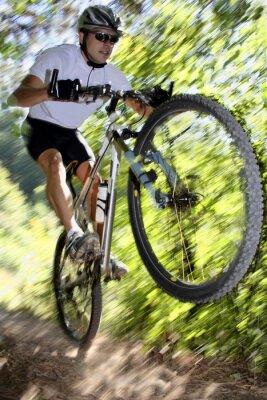 Плакат велосипедист