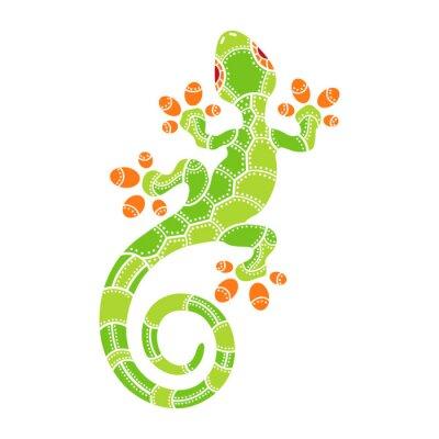 Плакат Декоративные изолированные мультфильм ящерица