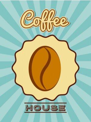 Плакат вкусный дизайн кофе