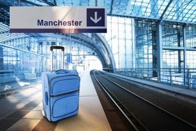 Плакат Выезд в Манчестер, Великобритания