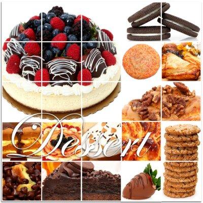 Плакат Десерт Коллаж