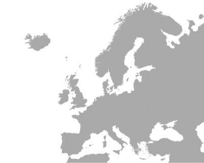 Плакат Detaillierte Karte фон Europa