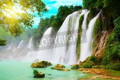 Плакат Detian или Пан GIOC водопад вдоль вьетнамской и китайской плате.