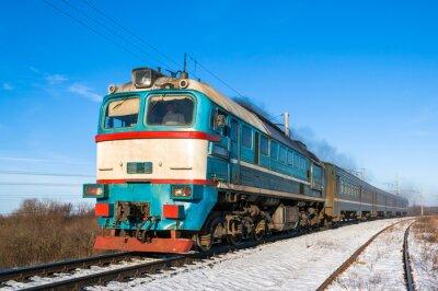 Плакат Дизель поезд местного сообщения в Украине.