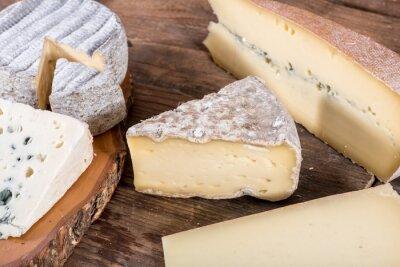Плакат Различные сорта французских сыров