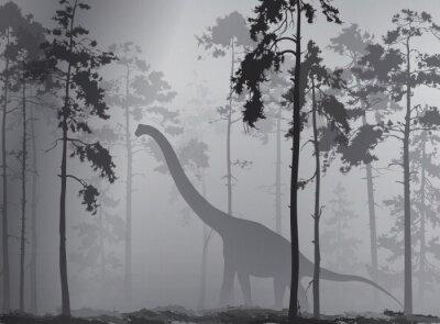 Плакат динозавр