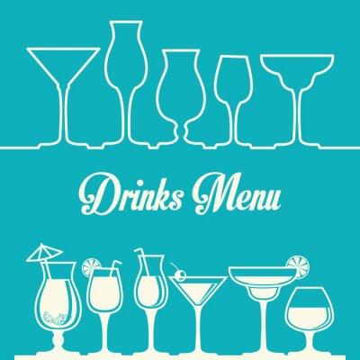 Плакат Дизайн напиток