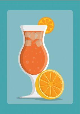 Плакат дизайн Напитки значок