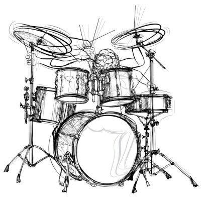 Плакат барабанщик