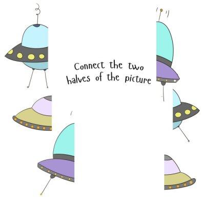 Плакат Обучающая игра соединить две половинки