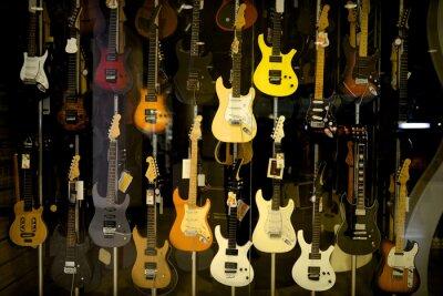 Плакат Электрические гитары