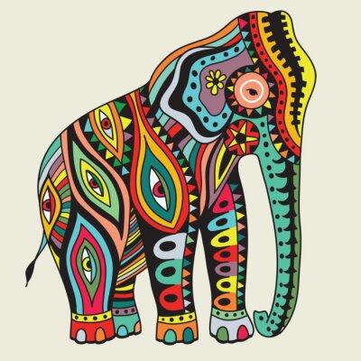 Плакат Elefant. Векторная иллюстрация