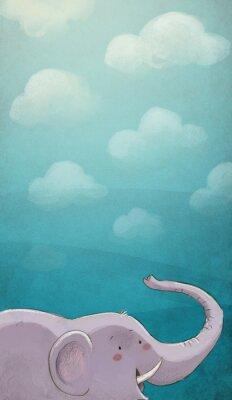 Плакат Elenfante кон Textura