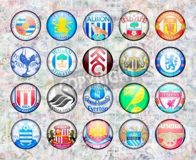 Плакат English Premier League Football Teams 2012/13