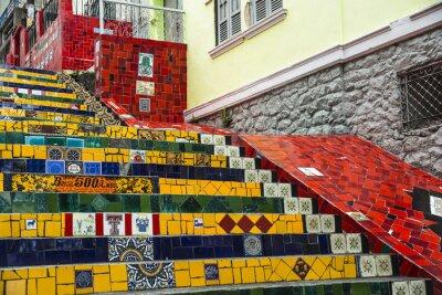 Плакат Escadaria Selaron, Рио-де-Жанейро, Бразилия