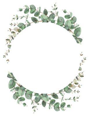 Плакат Eucalyptus circle frame composition