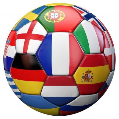 Плакат Европейский футбол