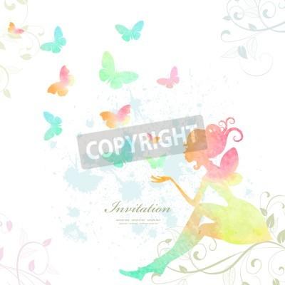 Плакат Фея акварельной краски