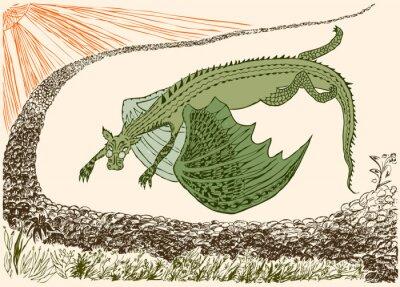 Плакат Пришел фантастический дракон