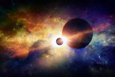 Плакат Фантастический космический фон
